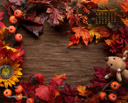 November 2017 Desktop Wallpaper