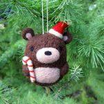 Needle Felted Bear Ornament