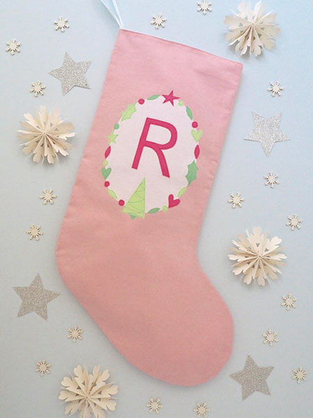 Pastel Pink Christmas Stocking