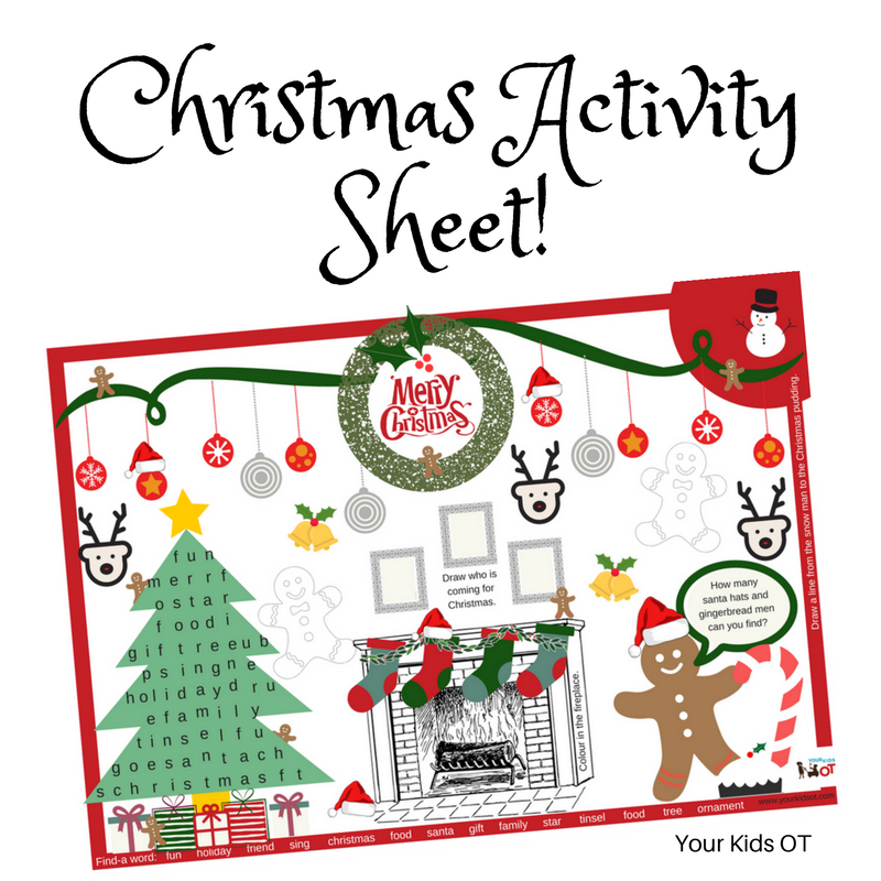Free Printable Christmas Activity Sheet