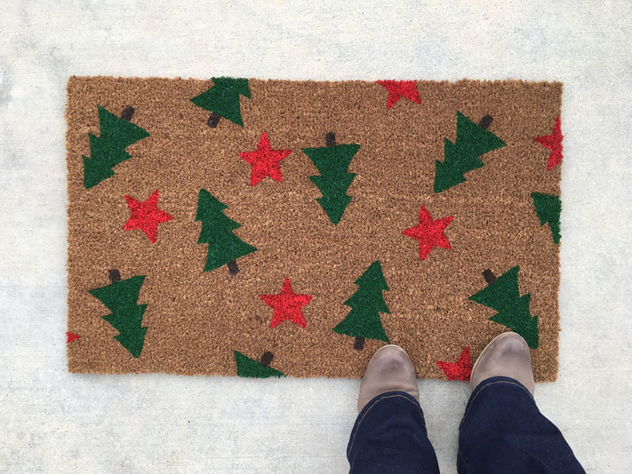 Holiday Tree Doormat