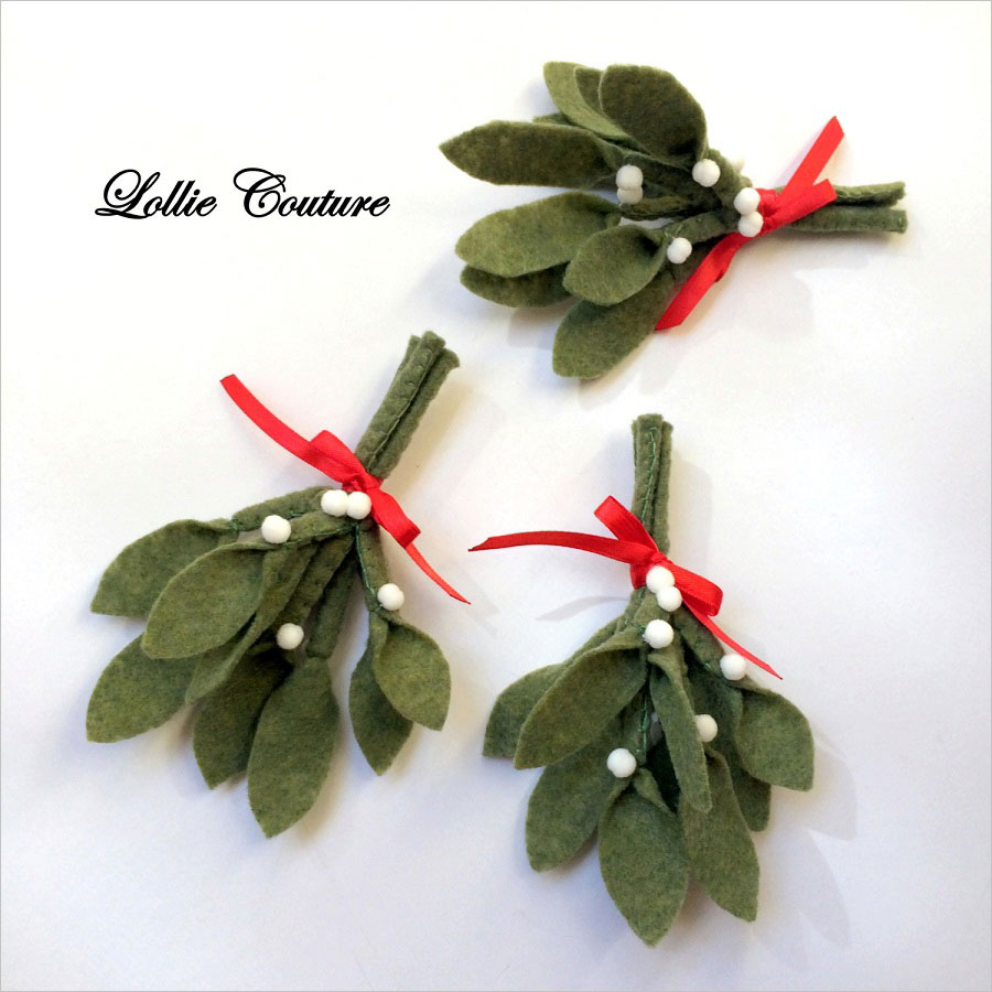 Felt Mistletoe Ornament