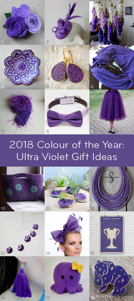 Pantone 2018 Colour of the Year: Ultra Violet Gift Ideas