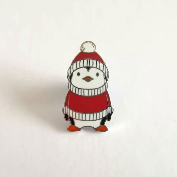 Christmas Penguin Enamel Pin