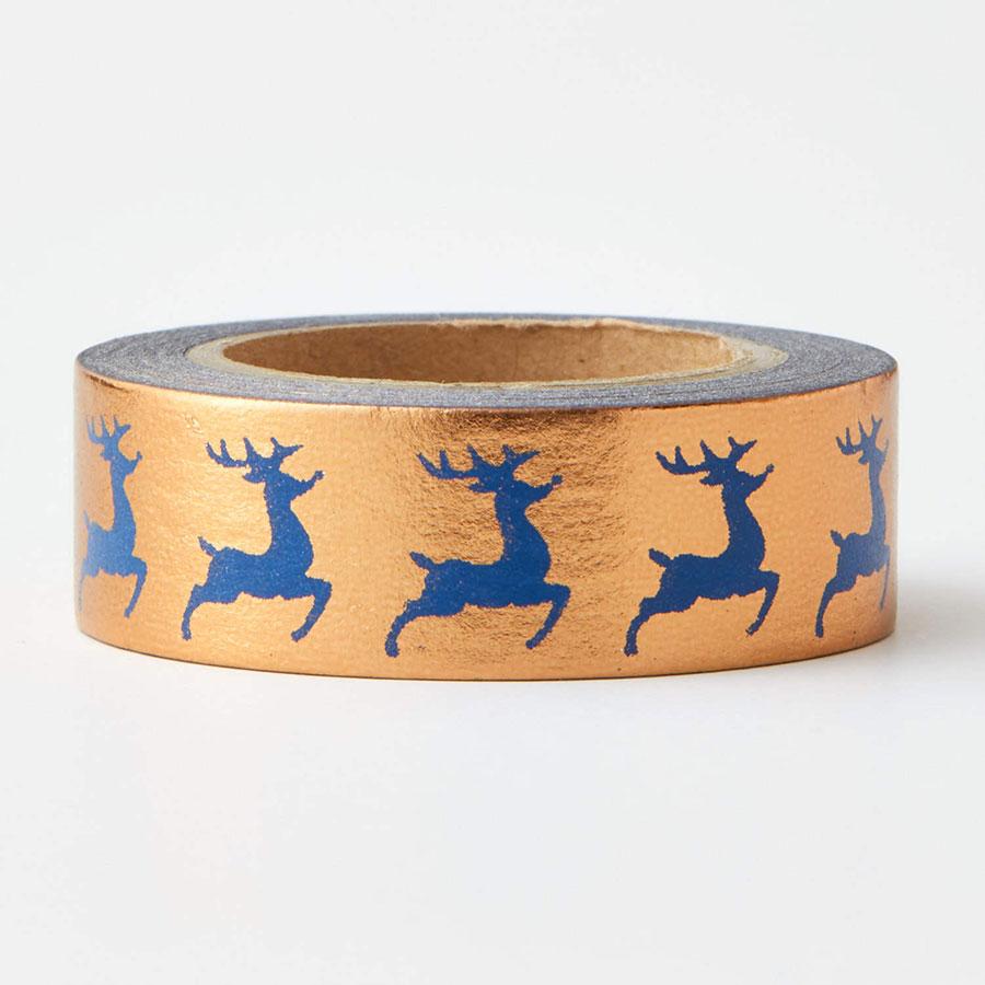 Foil Reindeer Washi Tape
