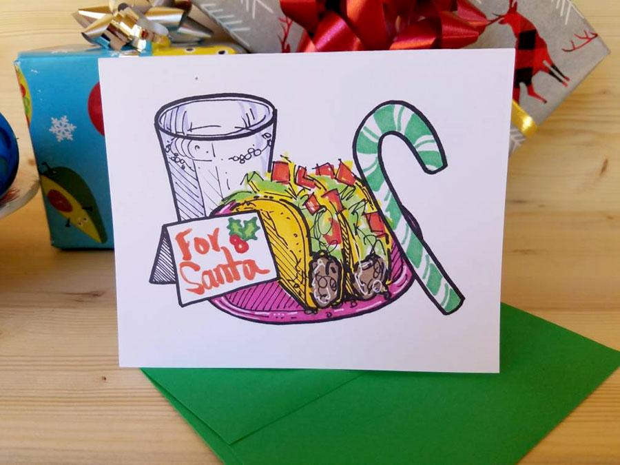 Tacos for Santa Card