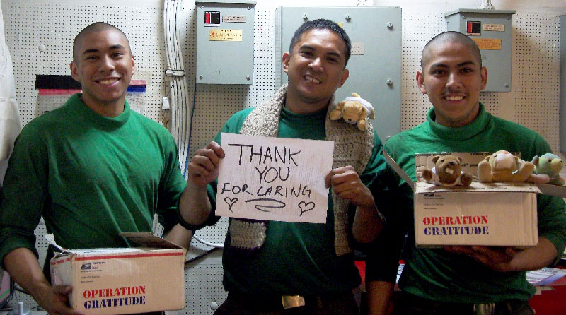 Operation Gratitude: Thank You for Caring