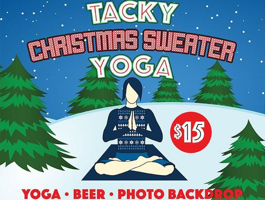 Tacky Christmas Sweater Yoga