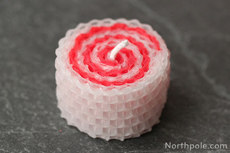 Surprisingly Simple Embellished Beeswax Candles: Swirly Peppermint