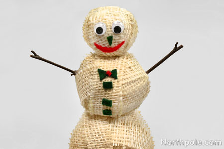 Step 6 for Snowman made out of burlap