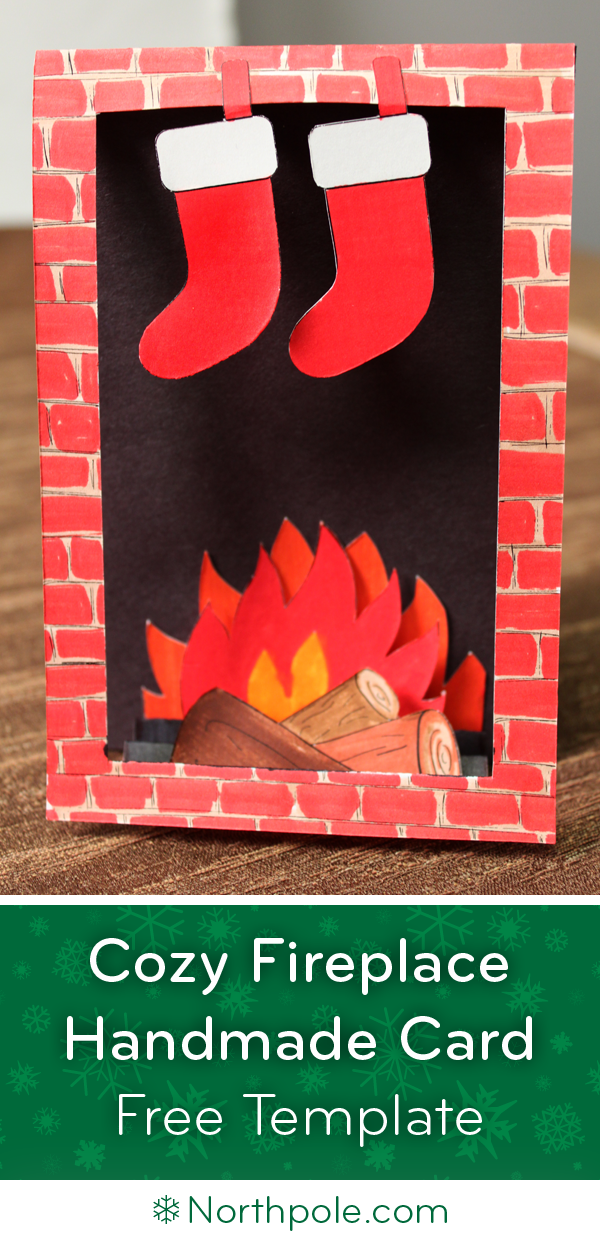 Craft Cottage - Cozy Fireplace Card