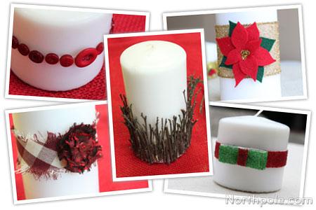 Craft Cottage Easy Candle Embellishments