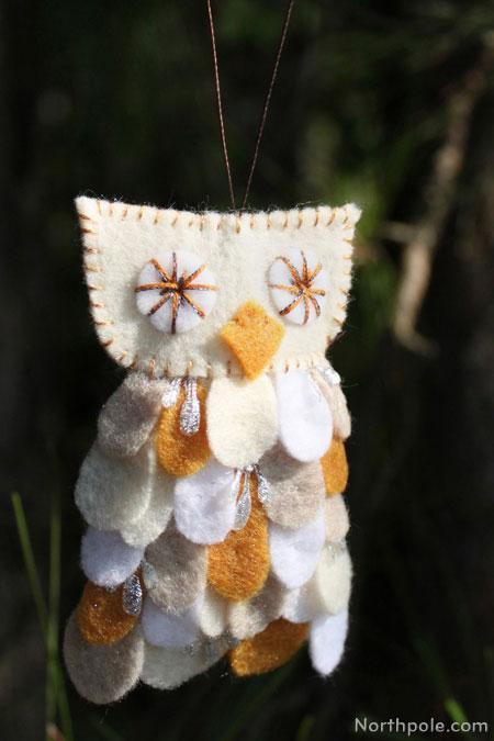 Craft Cottage  Fuzzy Felt Owl Ornament