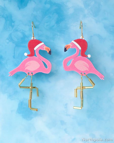 Festive Flamingo Earrings