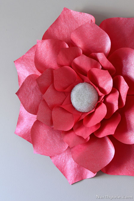 jumbo glitter flower for your holiday parties