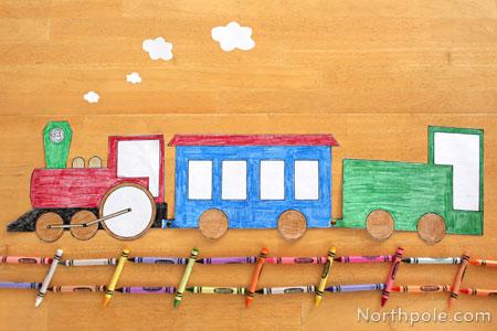 Craft Cottage Paper Choo Choo Train
