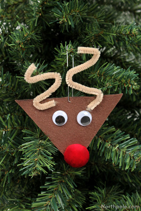 craft cottage felt reindeer ornament
