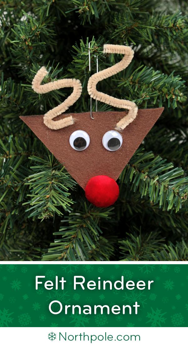 felt reindeer ornament  u2022 northpole com craft cottage