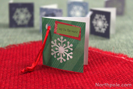 Punch a snowflake on the front of the tag, add stickers or ribbon.