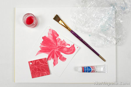 Crackled effect using watercolor paints