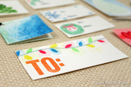 handmade watercolor holiday gift tags - Christmas Tags Handmade