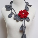 Crocheted Leaf Necklace