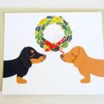 Dachshunds Christmas Card