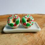 Christmas Donut Earrings
