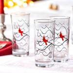 Etsy Item of the Day: Christmas Cardinal Glasses, Set of 4