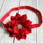 Etsy Item of the Day: Red Christmas Flower Headband by Pink Poppies Designs