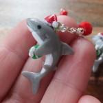 Santa Shark Charm