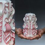 Carved Christmas Candle