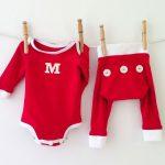 Monogrammed Christmas Baby Pajamas