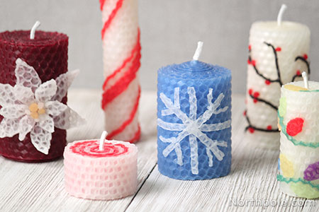 Craft Cottage - Surprisingly Simple Embellished Beeswax Candles