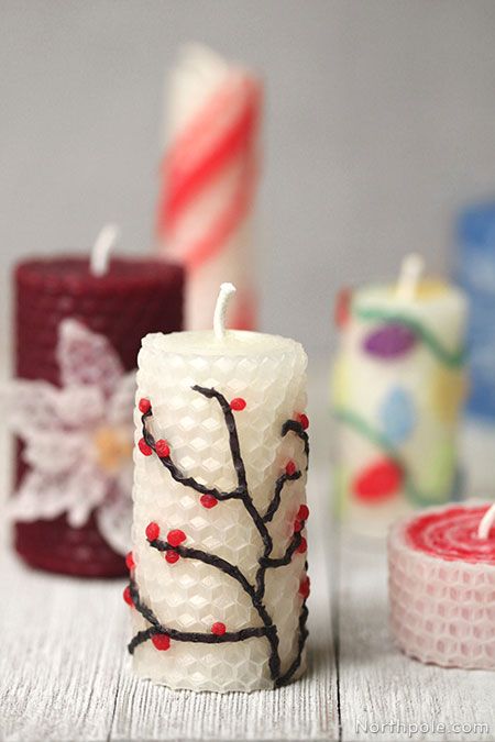 Surprisingly Simple Embellished Beeswax Candles