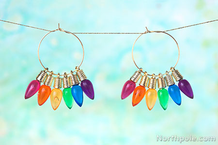 Effortless Christmas Light Earrings: 3 Ways