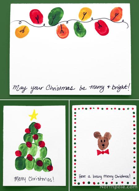 Fingerprint Christmas Lights Craft